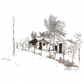 Drawing of village