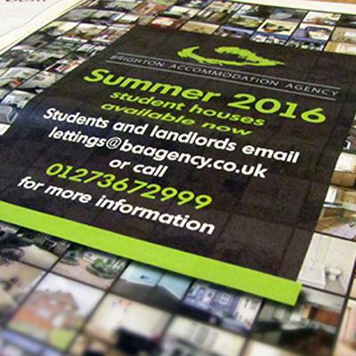Advert for Brighton Accommodation Agency