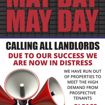 May Day Promotion for CJ Hole Estate Agents