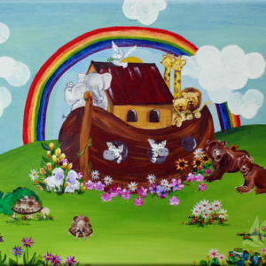 A painting of Noah's Ark for a child's bedroom.