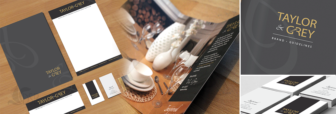 BrandingTaylor & Grey - Branding and publicity commission for an interior design company